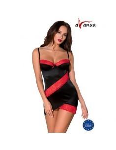 ODINA Chemise Negro Rojo