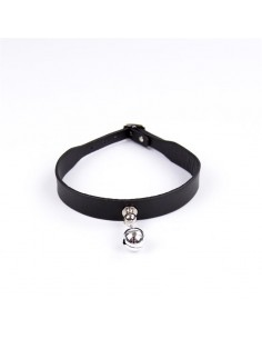 Collar con Cascabel Ajustable 43 cm Negro