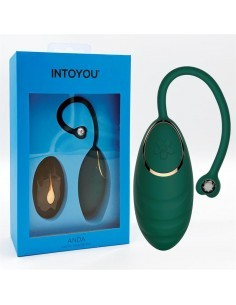 Anda Huevo Vibrador con Control Remoto Verde Botella