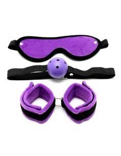 Rimba Bondage Play Set de Bondage 3 Piezas Color Purpura
