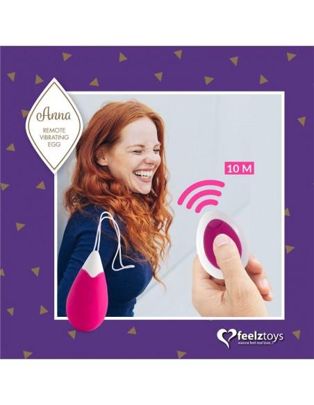 Anna Huevo Vibrador con Control Remoto USB Deep Pink