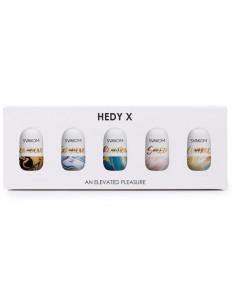 Hedy X Mix Textures Huevo Masturbador Pack de 5