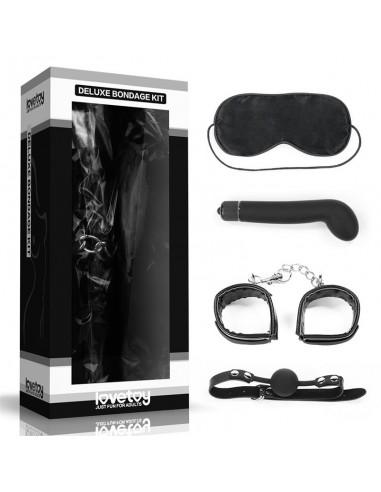 Kit Bondage Deluxe con Vibrador Negro