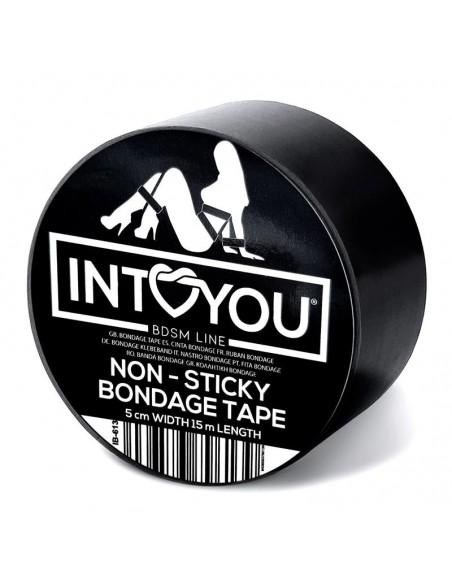 Cinta de Bondage No Pegajosa Negro 5 metros