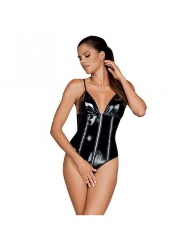 Stormea Bodysuit Imitacion Latex Entrepierna Abierta Black
