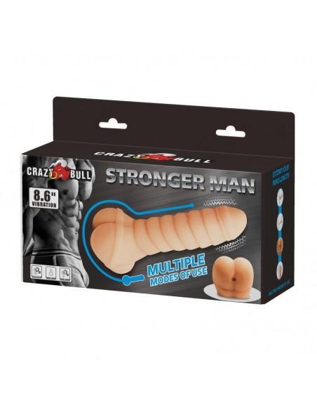 Funda para el Pene y Estimulador Stronger Man 86